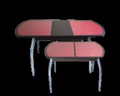 Стол «Гала-13» (кожзам под стеклом)